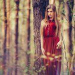 sesja portretowa w lesie rustykalna boho